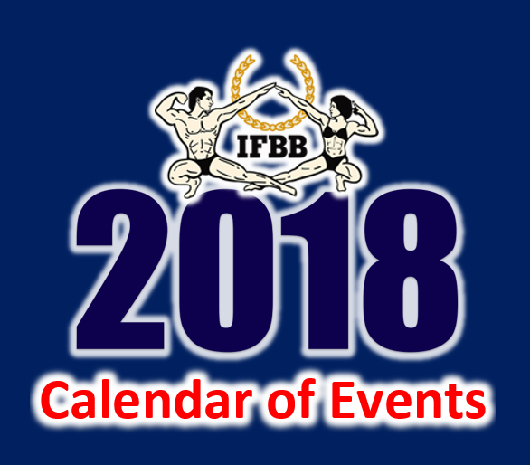 IFBB Amateur League Calendar Of Events
